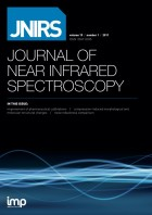 JNIRS—Journal of Near Infrared Spectroscopy Cover